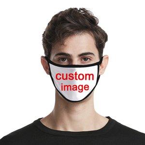 Encargo de la moda cara Adulto imagen máscara máscaras niño boca de algodón reutilizable moda lavable prueba de máscaras contra el polvo del polvo unisex
