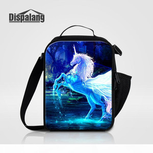 Thermal Insulated Lunch Bags For Women Fantastic Unicorn Cartoon Cooler Bag For Kids Children Food Picnic Lunch box Sack School Meal Termica