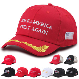 New Donald Trump Cap USA Baseball Caps Élection Etats-Unis font de l'Amérique Grand Encore une fois président Chapeau 3D broderie Chapeaux DHL Livraison gratuite EWE1898