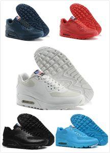 2020 PRM 90 QS HYP Running Shoes Venda Online Fashion Independence Day Zapatillas bandeira dos EUA Desporto Sapatilhas 90 des chaussures