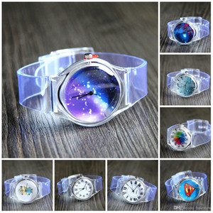 Casual Watches Transparent Silicone Crystal Watch Cartoon Novelty Student   women Watch