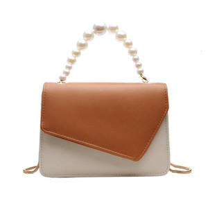 OCARDIAN Женской моды Pearl Crossbody сумки цепь кожа двойной цвет посыльные сумки Jul23