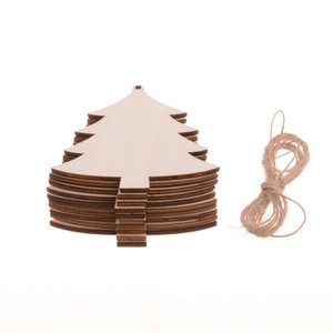 Round trees Home creative American country wooden Christmas tree pendant decoration handmade accessories Christmas decoration diy wood chips