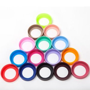 silicone sleeve cover for water bottle cups bottom protection 7-8cm multi colors mats cover for mugs GWE1789