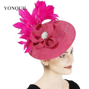 Hot pink wedding millinery wedding women fascinator fancy hat charming headpiece hair clip occasion hair accessory