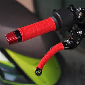 2 pares de borracha motocicleta guiador Covers aderência com tampas Brake Clutch alavanca para o Moto Universal bicicleta