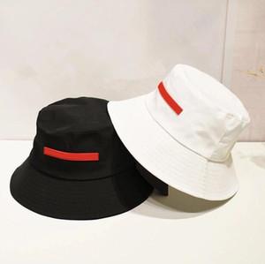 Tissu de haute qualité contraste de couleurs de couleur de couleur chapeau de godet de la mode Fiable Caps Casquettes Noir Fisherman Beach Sun Visor Casquette pliante