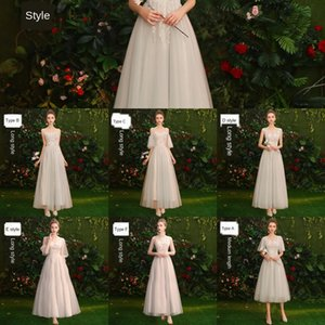 gR9If wedding New Summer Sisters dress mid-length fairy i40Ev bridesmaid 2020 host 18-year-old Formal group female bridesmaid dress temperame