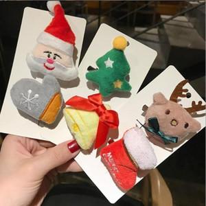 1pcs filles Cartoon Barrettes cadeaux de Noël enfants Broche mignon Hairpin peluche Accessoires cheveux anniversaire Souvenirs