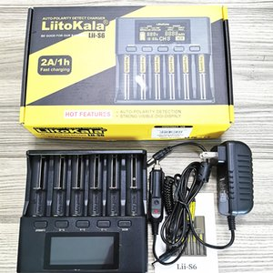Liitokala Lii-S6 зарядное устройство батареи и автомобиля 18650 зарядное устройство 6-слот Автополярность обнаружить для 18650 26650 21700 32650 AA AAA аккумуляторы [ЕС]