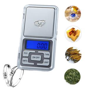 Pocket Scale 100/200/300 / 500g 0,01 / 0,1g haute précision Rétro-éclairage électrique de poche pour les bijoux Gramme Poids Balance numérique pour la cuisine