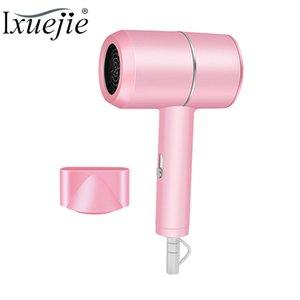 IXueJie Profesional Mini Secador de pelo caliente y fría de viento eléctrico secador de pelo para la herramienta de secado de Estudiantes compartida secador Rosa