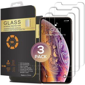 새로운 아이폰에 대한 3 팩 (11) 프로 XR X가 최대 강화 유리 화면 보호기 0 .26mm 2 X 7 8 아이폰 둥근 모서리 8plus을 .5d .5inch 5 0.8 6 0.1 6