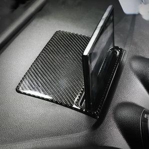 Voiture Intérieur en fibre de carbone de commande centrale de navigation Écran Décor couverture Autocollant pour voiture Styling Audi A3 S3 2014-2018 Accessoires