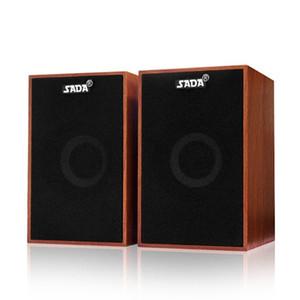 Dizüstü Tablet PC Akıllı Telefon için SADA V-160 USB Kablolu Ahşap Kombinasyon Bilgisayar Hoparlörler Bass Stereo Müzik Çalar subwoofer
