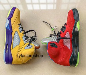 Nike air jordan retro 5 WHAT The Mid aj 5 Basketball Shoes Mens baskets 5s What the Mandarin Duck Sneakers yellow red CZ5725-700
