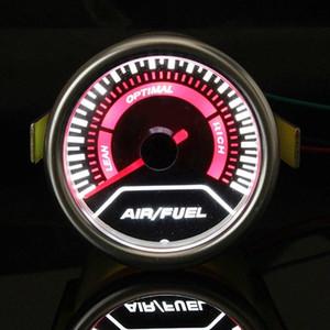 Bygd Universal 2 '' 52MM Car Auto Air Fuel Ratio Jauge moteur AFR Racing compteur moniteur LED blanc rouge pointeur 12V fumée objectif TKQr #