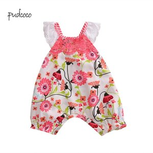 Pudcoco New Brand Newborn Baby Girl Floral Jumpsuit Sleeveless Bodysuit Clothes Summer Outfit