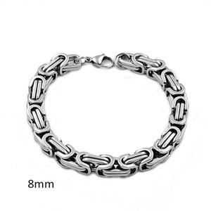 Men Bracelet Byzantine Stainless Steel Links & Chains Bracelets Gold Black Silver Color Stainless Steel Mens Bracelets new Pop Jewelry