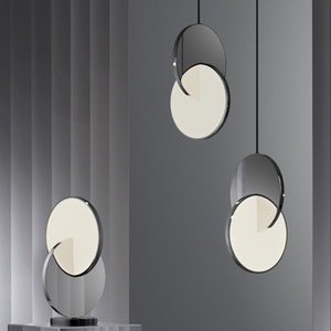 Modern Design Cross Shape Led Pendant Light Nordic Bar Restaurant Stainless Steel Pendant Lamp Bedroom Lighting Fixture