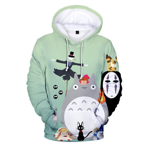 Japanische Anime Kawaii Hoodie für Männer Frauen Jugendliche Hoodys Studio Ghibli Hayao Miyazaki Chihiro Chihiros Totoro