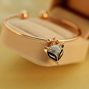 Vivid Crystal Charming Black Eye Line Opening Fashional Golden Bracelets & Bangles