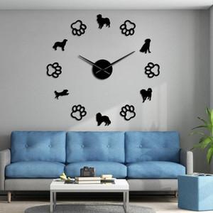 Patas Início Wall Wall Dog Holanda Raças Decor Small Dog parede Watch Dog Relógio Arte decorativa Diy Jaula gigante Kooikerhondje ZePIP