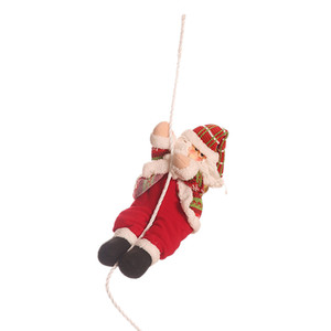 Christmas Decorations Santa Claus Climbing Rope Doll Decoration Pendant Gift Toy Christmas Decoration for Home Party
