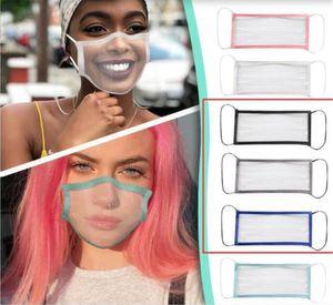 Waschbare Gesichtsmasken löschen Fenster wiederverwendbare sichtbaren Ausdruck Maske für gehörlose Schwerhörige Gesicht Abdeckung Mascarar