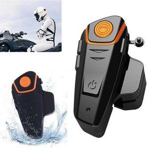 Intercomunicador Moto Headset sem fio Bt-s2 Radio Motocicleta Intercom Waterproof Moto Pro Bluetooth Helmet Capacete 1000m Original Fm zm