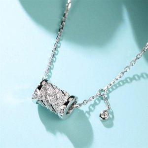 Venda quente doce Cut New Arrival Vendidos Fine Jewelry prata esterlina 925 pingente círculo Pave Branco Sapphire CZ Diamante Mulheres Popular