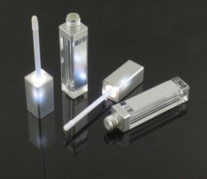 7.5ML LED light lip gloss bottle container with mirror attached and 12.1mm LED lipstick tube empty cosmetic package SN004
