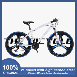 American spot fat new trend bicycle 26 inch 21 speed three pole aluminum alloy mountain bike racing men and women bicycle racing