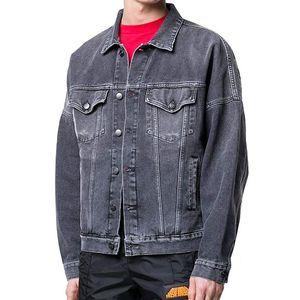 2020 Yeni Motosiklet Mektup Baskı Denim Ceket Yüksek Moda Ünlü Bombacı Denim Ince Rüzgarlık Ceket Mens Jean Giyim