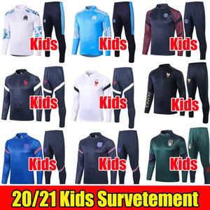 Дети 2020 2021 AJAX FC Training Suit 20 21 Chandal Atletico Италия Франция Англия Детский спортивный костюм Майо De Foot Enfants Survetement Kit