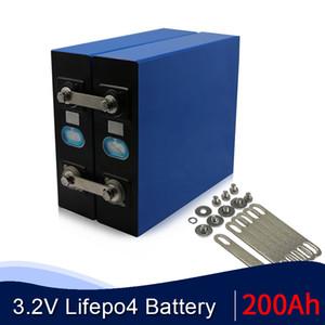 16PCS High Capacity 3.2V 200Ah LiFePO4 Prismatic Cells For Home 12V 24V 48V Solar Energy RV battery pack EU US TAX Free