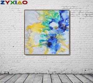 ZYXIAO Big Size Poster und Drucke abstrakte Blumen-Ölgemälde-Segeltuch No Frame Wandbilder für Wohnzimmer Hauptdekoration ys0063
