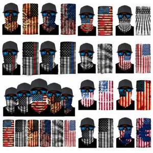 America Flag Cycling Masks Sports Mask Scarf Motorcycle Scarves Outdoor Half Face Mask Fashion Cycling Head Scarf WY724