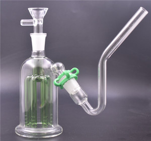 8 arms tree ash catcher Bong 14mm 18mm glass beaker bong 5.5 inch dab rig bong with tobacco bowl and glass oil burner pipe