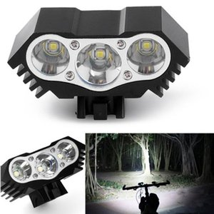 High Quality 7500 Lumen 3X T6 LED Zoom Mini Torch LED Cycling MTB Road Bike Front Head Bicycle Lights With Mount