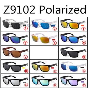 Marca polarizado gafas de sol al aire libre gafas de montar la pesca gafas de sol Z9102 con la caja original y la caja 15 opcional de color con el logotipo