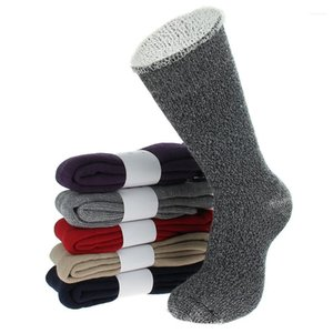 Homme Clothing Fashion Style Underwear Casual Apparel Mens Winter Designer Thicken Socks Solid Color Mid Stockings