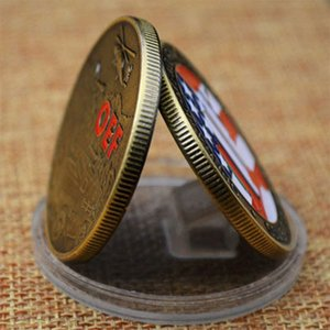 2020 Commemorative Coin Color Paint Antique Medal American Snake Green Bronze Metal Badge Coin