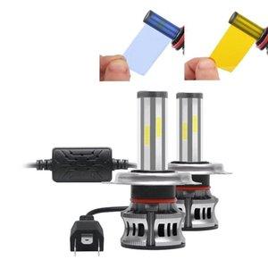 2PCS фар автомобиля 6-Side лампы H7 Светодиодные лампы H4 LED H7 фарах Kit 9005 3 9006 4 Для Auto 12V лампа