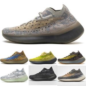 PK Versão 380 Shoes Mulheres Homens Designer Sneaker Correndo estrangeiro Shoe névoa azul Aveia Hylte Brilho Lmnte Pimenta Reflective Kanye West Chaussures
