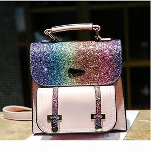 Crossbody Bag Korean Style Sequin Fashion Backpack Shoulder Package Pu Waterproof Travel Backpack Designer Female Handbag Fashion Bags