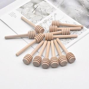 8 cm lungo mini mini wooden honey stick mestolo divulto fornitore di party rifornimento legno miele cucchiaio bastone per miele bastone bastone gwe1651