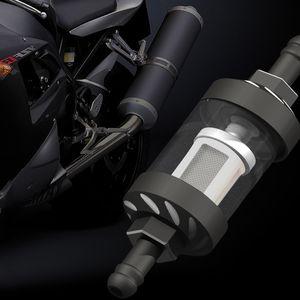 Evrensel 8mm Gaz Yakıt Filtresi Temizleyici CNC Alüminyum İçin Motosiklet Pit Dirt Bike ATV Inline Petrol Gazı Yakıt Filtresi