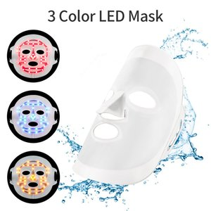 3D Silicone LED Mask 3 Color Photon Therapy LED Facial Mask Cover Skin Hydrating Whitening Acne Removal Anti-aging Beauty Device
