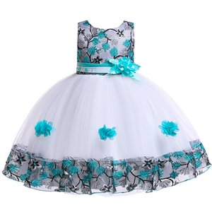 Im Lager Geburtstag Bankett Erste Vestido De Comunion Qualitäts-Abschlussball-Kleid-Spitze Für Kinder Brautjungfernkleider